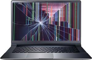 Damaged laptop screen